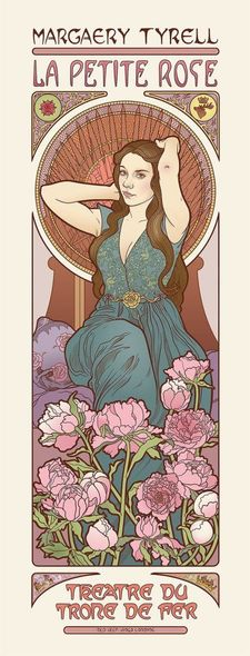 Game of Thrones (GOT) example #64: game-of-thrones-art-nouveau-5