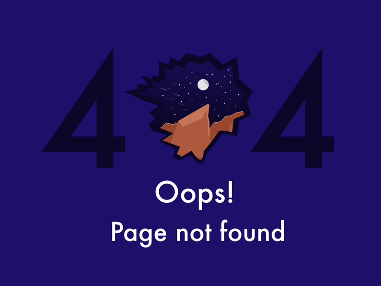 404 error page deisgn example #103: 404 page not found