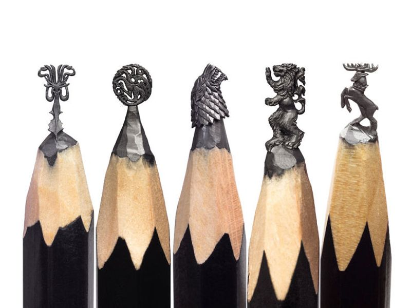 Game of Thrones (GOT) example #222: I Turn Pencil Lead Into Miniature Game of Thrones Sculptures
