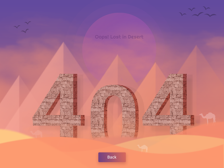 404 error page deisgn example #50: 404 page not found