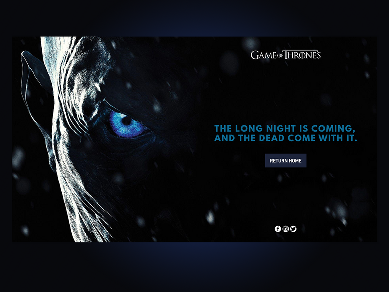 Game of Thrones (GOT) example #176: Game of Thrones Themed Error Page