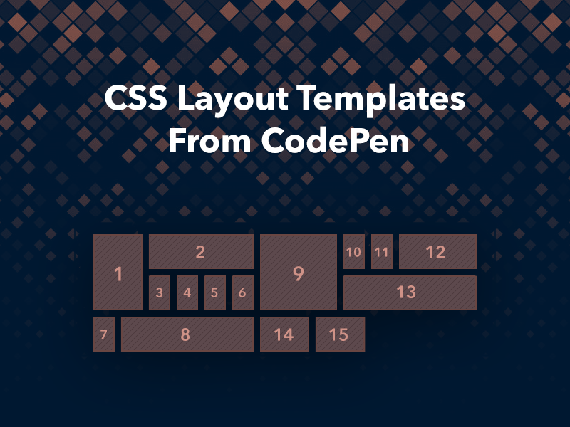 CSS Layout Templates From CodePen - Freebie Supply
