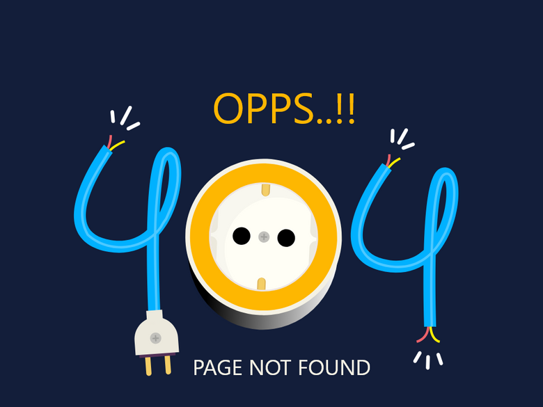 404 error page deisgn example #33: 404 Page not found !!